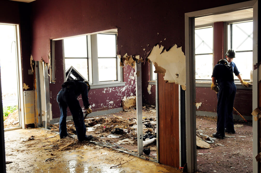 fire damage cleanup and asbestos removal